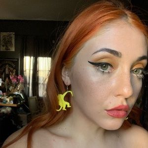 Yellow monkey earrings